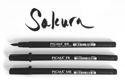 Pincel nanquim Pigma Brush Sakura - Waterproof