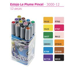 Kit 12 canetas Le Plume Markers