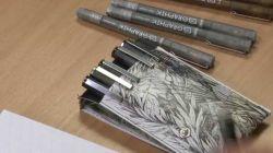 Estojo c/ 6 canetas Caneta nanquim Derwent Graphik PRETA