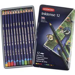 Lápis de cor AQUARELA Derwent Inktense 12 cores