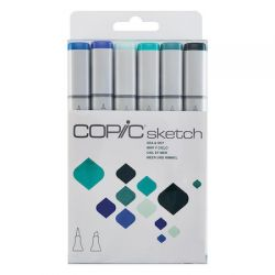 KIT COPIC SKETCH 6 CORES Sea & Sky