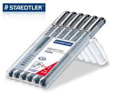 Kit 6 canetas nanquim Staedtler Pigment Liner